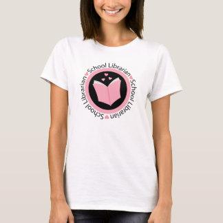 School Librarian Pink T-Shirt