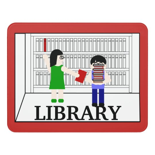 School Library Room Sign