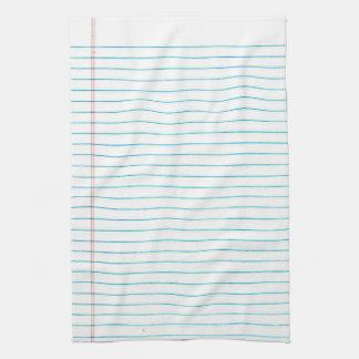 School Lined Leaf Paper Print Kitchen Towel