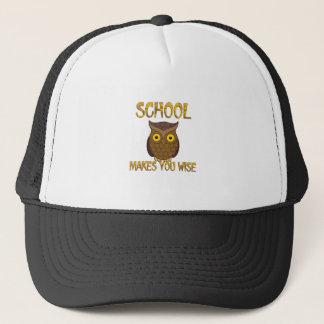School Makes You Wise Trucker Hat