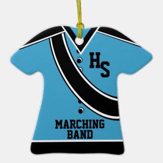 School Marching Band Photo Blue Ceramic T-Shirt Decoration