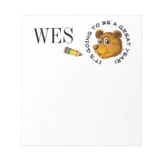 School Note Pad