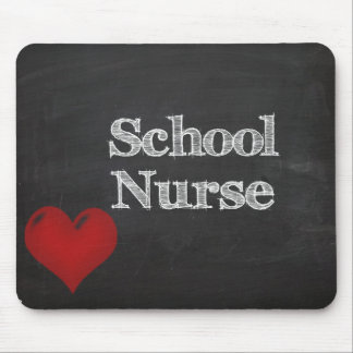 school nurse chalk board mouse pad
