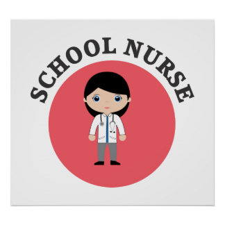 School Nurse in Red Circle Poster