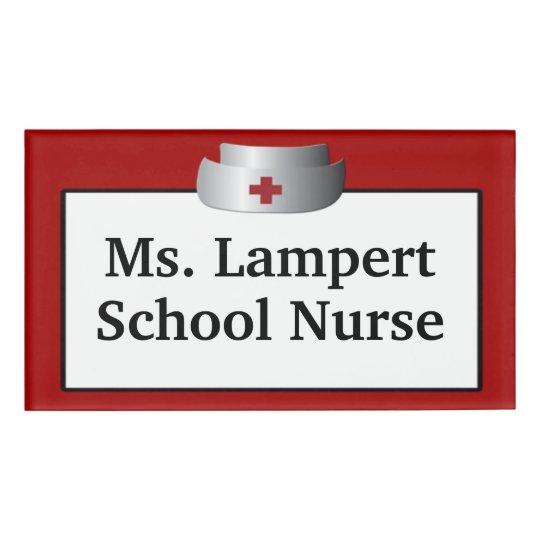 School Nurse Name Tag