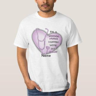 School Nurse Purple Heart value t-shirt
