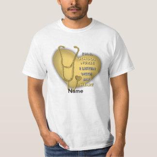 School Nurse Yellow Heart value t-shirt