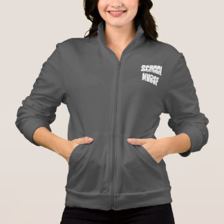 school nurse zip up sweatshirt jacket