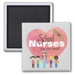 School Nurses Are the Best! (magnet) Square Magnet
