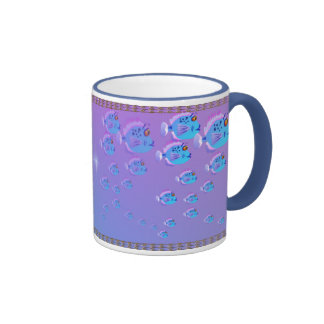 School Of Blue Fish Mug