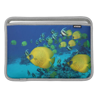 School of Butterfly Fish Swimming on the Seabed MacBook Sleeves