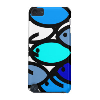 School of Christian Fish Symbols - Blue - iPod Touch (5th Generation) Cases