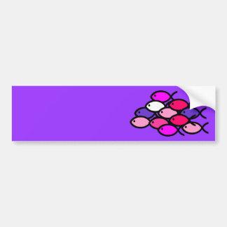 School of Christian Fish Symbols - Pink Bumper Sticker