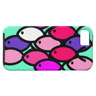 School of Christian Fish Symbols - Pink iPhone 5 Covers