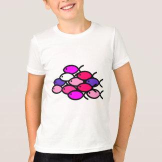 School of Christian Fish Symbols - Pink T-Shirt