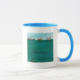 School of Fish Among Lines by Thornton Utz Mug