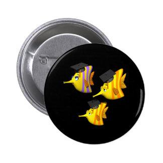 School Of Fish Button