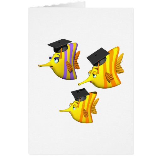 School Of Fish Greeting Cards