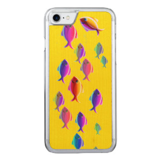 School of Fish Carved iPhone 7 Case