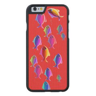 School of Fish Carved® Maple iPhone 6 Slim Case