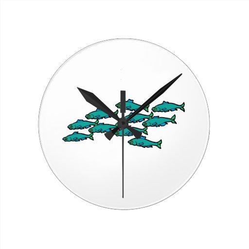 School Of Fish Clock