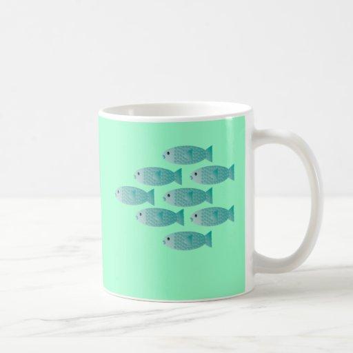 school of fish coffee cup coffee mugs