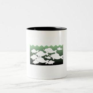 School Of Fish Coffee Mugs
