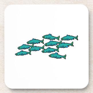 School Of Fish Beverage Coaster