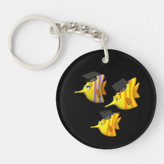 School Of Fish Double-Sided Round Acrylic Key Ring
