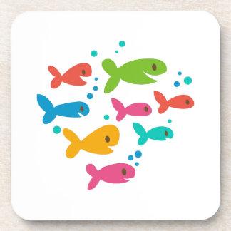 School Of Fish Drink Coaster