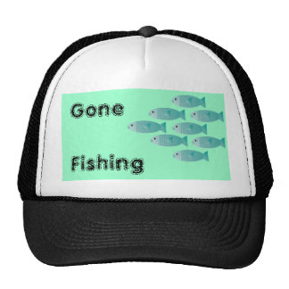 school of fish fishing hat