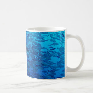 School of Fish in the Blue Sea Coffee Mug