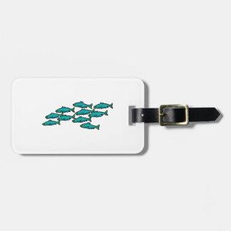 School Of Fish Luggage Tag