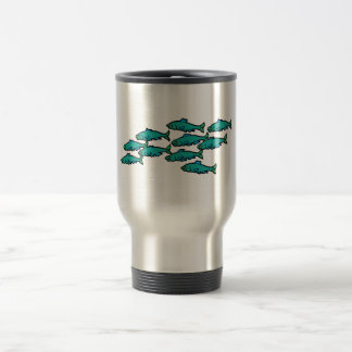 School Of Fish Coffee Mugs