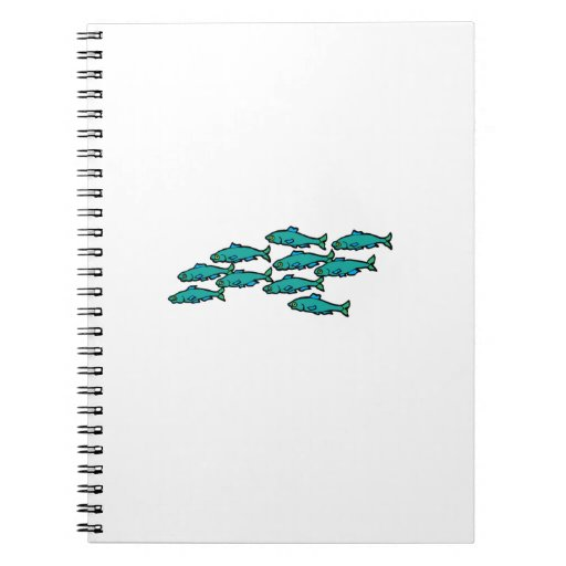School Of Fish Spiral Notebooks