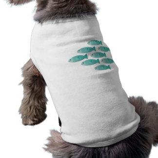school of fish pet shirt