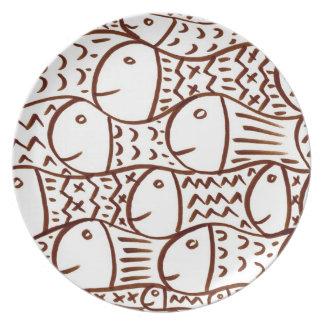 School Of Fish Plate
