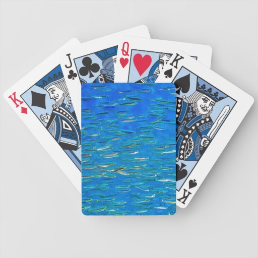 School of fish bicycle poker cards