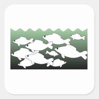 School Of Fish Square Sticker