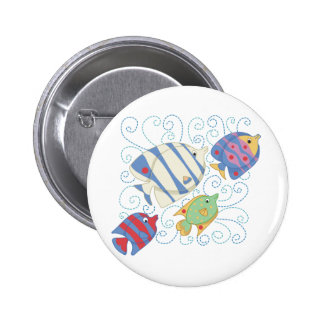School of Fish T-shirts and Gifts Pinback Button