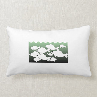 School Of Fish Throw Pillows