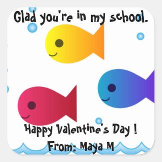 School of Fish Valentine Sticker