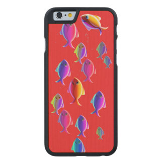 School of Fish Carved® Maple iPhone 6 Slim Case