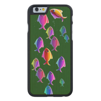 School of Fish Carved® Maple iPhone 6 Case