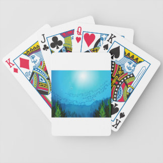 School of fishes under the sea bicycle poker deck