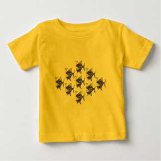 School of Happy Fish Baby T-Shirt
