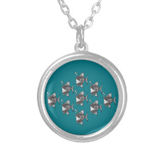 School of Happy Fish Silver Plated Necklace