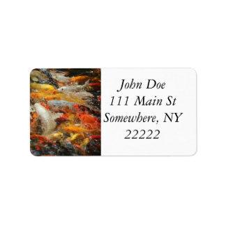 School of Koi Fish Address Label