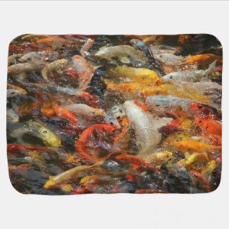 School of Koi Fish Receiving Blankets