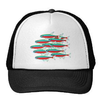 School of Neon Tetras Trucker Hats